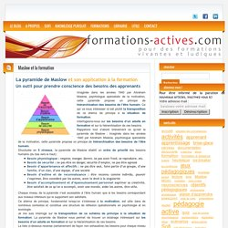 La pyramide de Maslow et son application à la formation