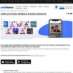 L'application Radio France sur iPhone et Android