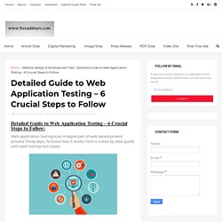 Detailed Guide to Web Application Testing – 6 Crucial Steps to Follow