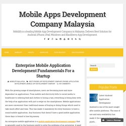 Enterprise Mobile Application Development Fundamentals For a Startup ~ Mobile Apps Development Company Malaysia
