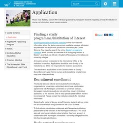 Application / Quota Scheme / Grants and funding for students / Home SIU