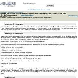 Mise en place d'une application webmapping de géolocalisation des points d'intérêt de la ville de Ouagadougou - Frédéric MILLOGO
