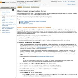 Step 1: Create an Application Server - Getting Started with AWS