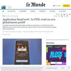 Application StopCovid: la CNIL rend unavis globalement positif