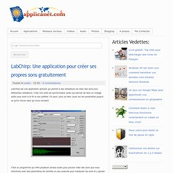 LabChirp: Une application pour créer ses propres sons gratuitement
