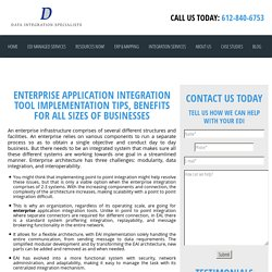 ENTERPRISE APPLICATION INTEGRATION TOOL IMPLEMENTATION TIPS, BENEFITS FOR ALL SIZES OF BUSINESSES - Data Integration Specialists