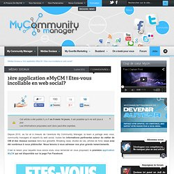 1ere application #MyCM ! Etes-vous incollable en web social?