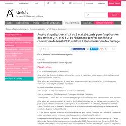 Accord d'application n°14 du 6mai2011 pris pour l'application des articles2, 4 et 9§2 du règlement général annexé à la convention du 6mai2011 relative à l'indemnisation duchômage