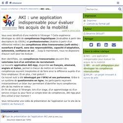 AKI : une application indispensable pour évaluer les acquis de la mobilité - Allemand