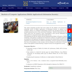 BCA College in Rajasthan for Mobile Application & Information Security Course