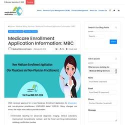 Medicare Enrollment Application Information: MBC
