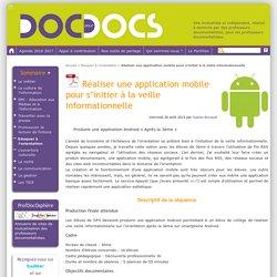 Réaliser une application mobile pour s'initier à la veille informationnelle