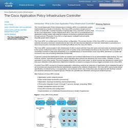 The Cisco Application Policy Infrastructure Controller