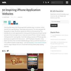 50 Inspiring iPhone Application Websites | Inspiration