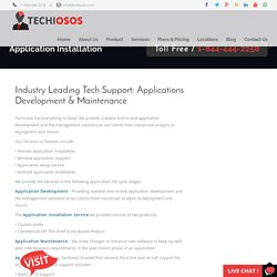 Application Installation and Support Services Toronto - Techiosos
