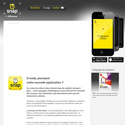 Nouvelle application - Explication et installation de U snap by JCDecaux