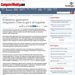 Enterprise application integration:Time to get it all together