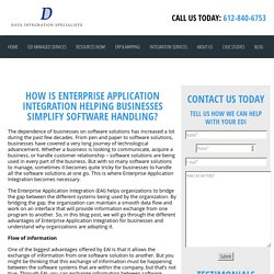 How Is Enterprise Application Integration Helping Businesses Simplify Software Handling? - Data Integration Specialists