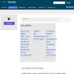 Kahoot! : une application pour créer des QCM interactifs ludiques