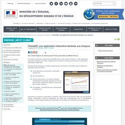 ClimatHD, une application interactive destinée aux citoyens