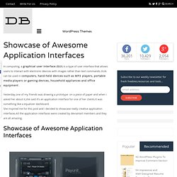 Showcase of Awesome Application Interfaces
