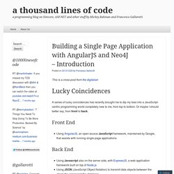 Building a Single Page Application with AngularJS and Neo4J – Introduction