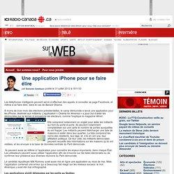 Une application iPhone pour se faire élire