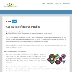 Application of Iron On Patches