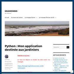 Python : Mon application destinée aux jardiniers – MIAMONDO