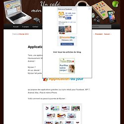 Application-du-jour sur Android