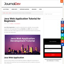 Java Web Application Tutorial for Beginners - JournalDev