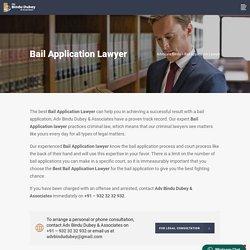 Bail Application Lawyer - Advocate Bindu
