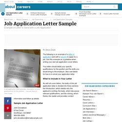 Job Application Letter Sample (and How to Write)