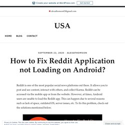How to Fix Reddit Application not Loading on Android? – USA