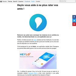 Heylo application pour localiser ses amis : interview startup