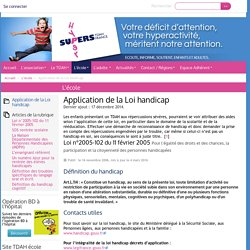 Application de la Loi handicap