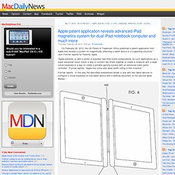 Apple patent application reveals advanced iPad magnetics system for dual iPad notebook computer and much more