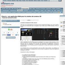 Clara.io : une application Web pour la création de contenu 3D. Testez dès maintenant la bêta !