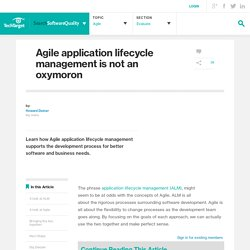 Agile application lifecycle management is not an oxymoron