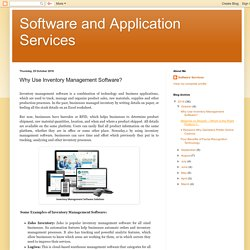 Why Use Inventory Management Software?