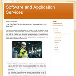 How Can Field Service Management Software Help Your Business?