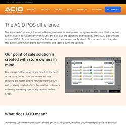 Acid POS Software Application Management For Retail Stores - POS System Cash Register