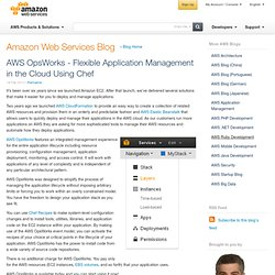 AWS OpsWorks - Flexible Application Management in the Cloud Using Chef