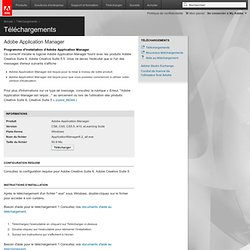 Adobe Application Manager : pour Windows : Adobe Application Manager 2.0