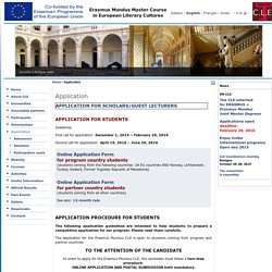Master CLE Erasmus Mundus