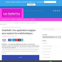 DudaMath. Une application magique pour explorer les mathématiques