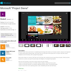 "Application Microsoft ""Project Siena"" pour Windows dans Windows Store"