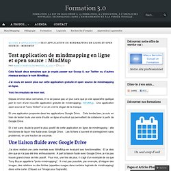 Test application de mindmapping en ligne et open source : MindMup