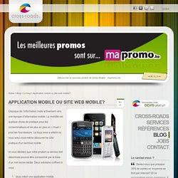 Application mobile ou site web mobile?