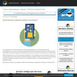 Une application mobile pour votre entreprise, bonne idée ?